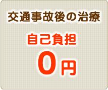 交通事故後の治療自己負担0円